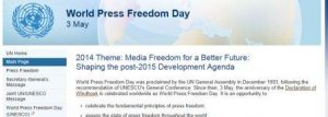 World Press Freedom Day Theme